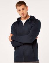 Regular Fit Klassic Hooded Zipped Jacket Superwash 60° Long Sleeve
